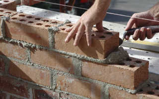 Использование кладки в полкирпича в коттеджном домостроении