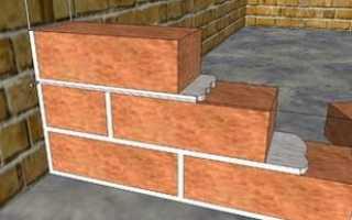 Строительство межкомнатной перегородки из кирпича