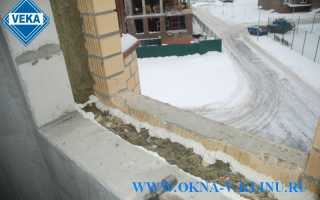 Монтаж пластикового окна в многослойную стену