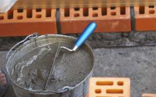 Приготовление раствора для кладки печи