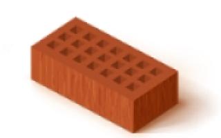 Кирпич керамический полнотелый и пустотелый
