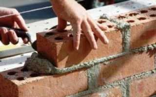 Расход цемента на 1м2 кладки кирпича