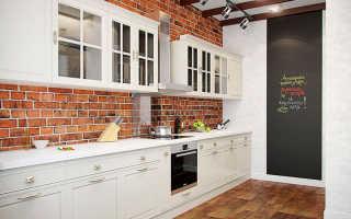 Из каких материалов можно сделать кирпичную стену на кухне