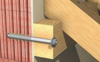Как крепить деревянный брус к бетонной стене