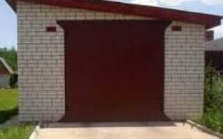 Строительство гаража из силикатного кирпича