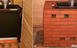 Как обложить металлическую печь в бане кирпичом: инструкция