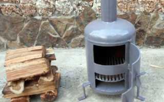 Делаем самостоятельно мини-буржуйку на отработке и дровах