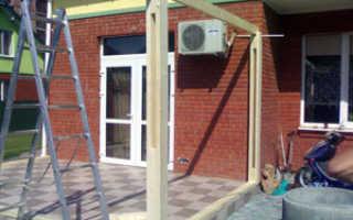 Строительство деревянной беседки-террасы