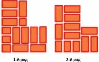Схема кладки в 1,5 кирпича