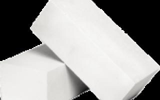 Кирпич силикатный двойной блок