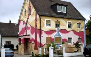 Покраска стен (фасада) дома – делаем все своими руками