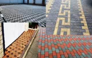 Узоры тротуарной плитки