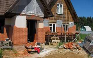 Технология, как обложить деревянный дом кирпичом