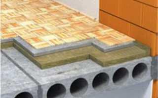 Установка плит перекрытия в кирпичном доме