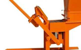 Кирпичный станок; выбор модели и самостоятельное изготовление по чертежу