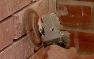 Чем и как шлифовать кирпичную стену