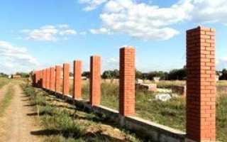 Кирпичные столбы для забора