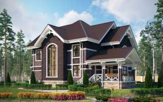 Дом из темного кирпича: интересные идеи оформления фасада