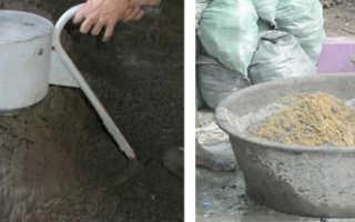 Как правильно смешивать цемент, песок, компоненты