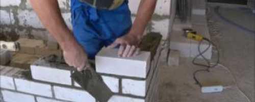 Техника кладки силикатного кирпича