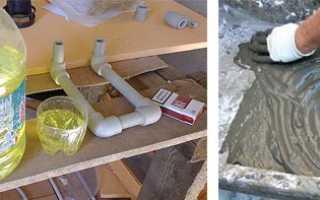Добавление моющих средств в цементную смесь