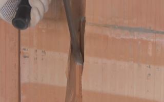Сверление и штробление керамических блоков