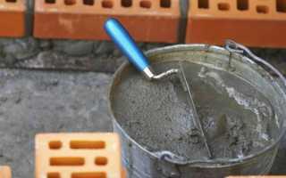 Цементно-песчаный раствор: приготовление и свойства