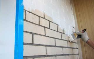 Способы покраски кирпичной стены на балконе