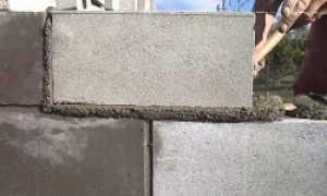 Расход цемента на кладку шлакоблока