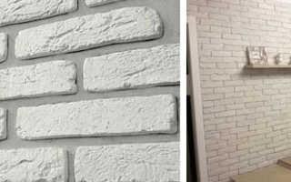 Варианты отделка стен под белый кирпич