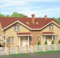 Проект дома на 2 семьи из желтого кирпича А-278